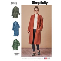 Simplicity Misses' Cardigan Sewing Pattern 8742 Xs Xl