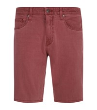 Paige Federal Slim Fit Shorts Red