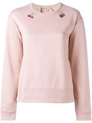 N 21 No21 Embellished Cherry Sweatshirt Pink Purple