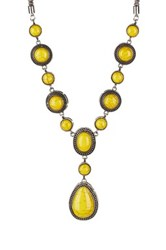 Eye Candy Los Angeles Yellow Stone Statement Necklace