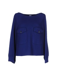 Uniqueness Shirts Blouses Women Blue
