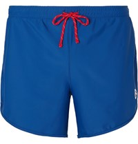 District Vision Spino Slim Fit Stretch Shell Shorts Blue