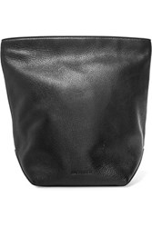 Jil Sander Textured Leather Clutch Black