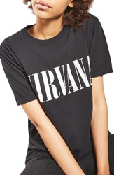 Topshop Women's By And Finally Nirvana Tee Black