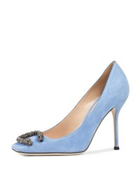 Gucci Dionysus Suede 105Mm Pump Blue Light
