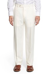 Men's Ballin Regular Fit Flat Front Trousers Cream