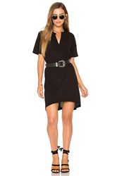 Stateside Short Sleeve Shirt Dress Black