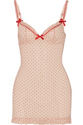 Agent Provocateur Febe Flocked Stretch Mesh Chemise