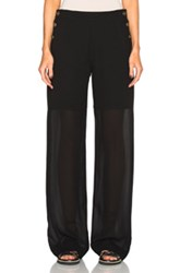Chloe Chloe Fine Sheer Crepe Pants In Black