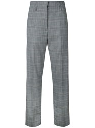 Golden Goose Deluxe Brand Checked Trousers Women Virgin Wool 40 Grey