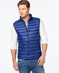 32 Degrees Packable Down Vest Blue