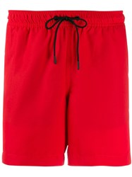 J. Lindeberg J.Lindeberg Banks Stripe Detail Swimming Shorts Red