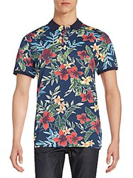 Civil Society Larry Floral Print Polo Shirt Multi