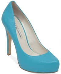 Bcbgeneration Parade Platform Pumps Women's Shoes Bright Teal