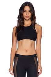 Blue Life Fit Silhouette Sports Bra Black