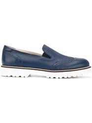 Hogan Chunky Sole Loafers Blue