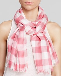 Aqua Gingham Scarf 100 Exclusive Pink White
