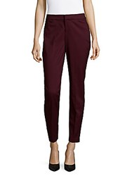 Saks Fifth Avenue Powerstretch Wine Mid Rise Pants Black