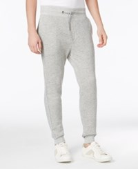 Guess Men's Lux Terry Iridecent Joggers Heather Light Grey
