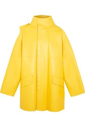 Balenciaga Oversized Leather Jacket Yellow