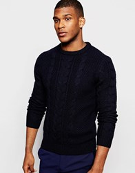 Reiss Cable Knit Jumper Navy