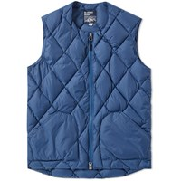 Mt. Rainier Design Zip Quilt Down Vest Brown