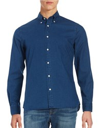 Brooks Brothers Cotton Chambray Sportshirt Blue