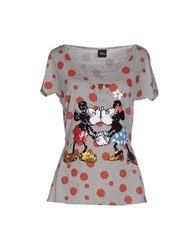 Disney Topwear T Shirts Women Grey