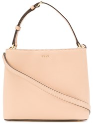 Donna Karan Mini Bucket Tote Nude And Neutrals
