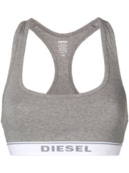 Diesel Ufsb Miley Sports Bra Grey