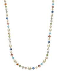 Charter Club Gold Tone Multi Bead Long Necklace Only At Macy's