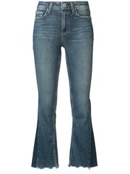 Paige Flared Cropped Jeans Blue