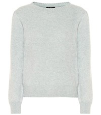 A.P.C. Lauren Wool And Cotton Sweater Blue