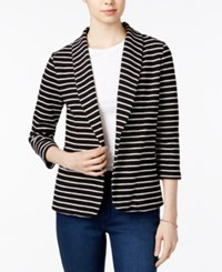 Maison Jules Striped Knit Blazer Only At Macy's Black Comb