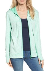 Tommy Bahama Women's Deux Reversible Front Zip Hoodie Mint Mojito