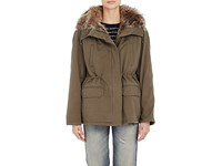 Army By Yves Salomon Women's Fur Lined Short Parka Nude