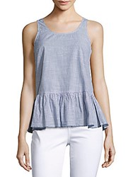 Beach Lunch Lounge Solid Peplm Tank Top Azure