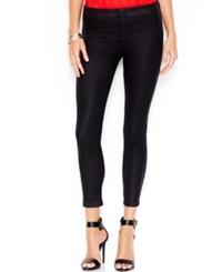 Guess Push Up Jeggings Coated Black Wash