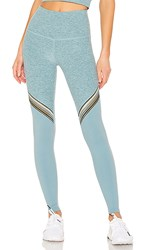Beyond Yoga All The Filament High Waisted Long Legging In Blue. Sky Blue Block