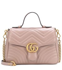 Gucci Gg Marmont Small Leather Shoulder Bag Pink