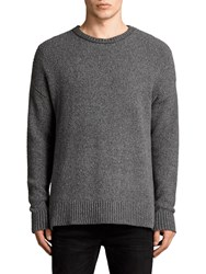 Allsaints Minami Relaxed Fit Crew Neck Jumper Charcoal Marl
