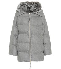 Agnona Wool And Cashmere Blend Coat Grey