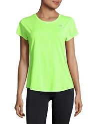 New Balance Short Sleeved Performance Tee Lime Glo