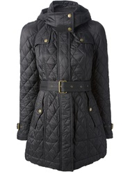 Burberry Brit Quilted Trench Coat Black