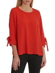 Betty And Co. Long Blouse Tomato