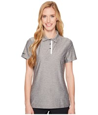 Skechers Go Golf Pitch Short Sleeve Polo Charcoal Women's Clothing Gray