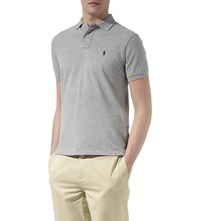 Ralph Lauren Slimfit Mesh Polo Shirt Andover Heather Grey