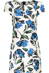 Milly Chloe Floral Print Cotton Blend Mini Dress White
