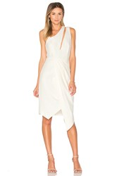 Finders Keepers Henson Wrap Dress Ivory