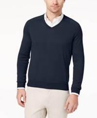 Brooks Brothers Red Fleece Cotton Cashmere Blend Sweater Navy